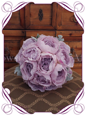 Artificial peony bridal bouquets, romantic silk peony wedding flowers melbourne