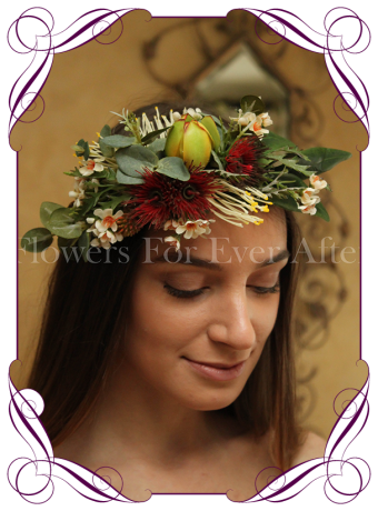 Silk Artificial Australian Native Flower crown halo