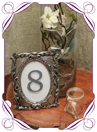 Table number, wedding table decoration hire, Melbourne Victoria