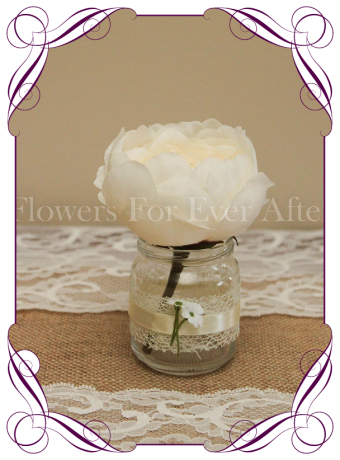 Cream peony silk artificial table decoration