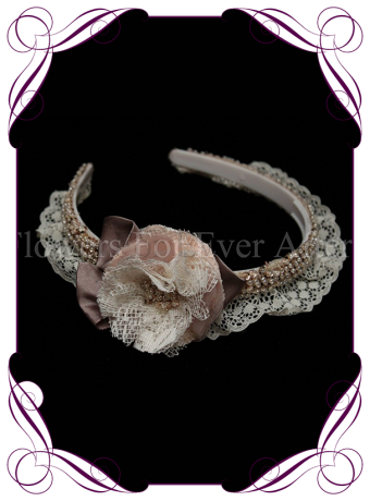 flowergirl headband, vintage head band