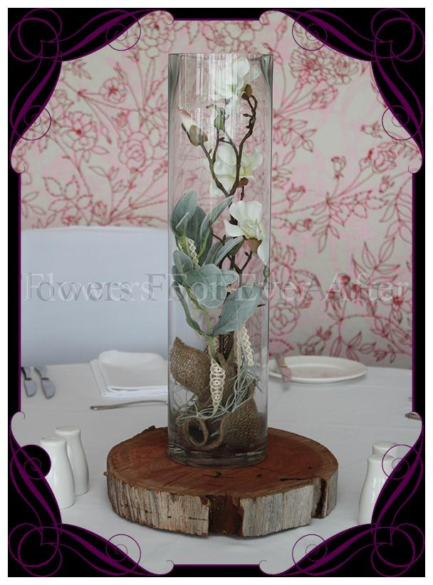 Hire rustic magnolia vase on wooden base flowers for ever after hire rustic magnolia vase on wooden base flowers for ever after artificial wedding flower designs junglespirit Choice Image