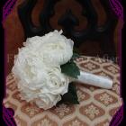 artificial peony bridesmaid bouquet