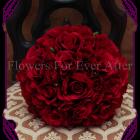 silk faux rose bridal bouquet