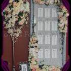 unique silk flower table arrangement hire frame