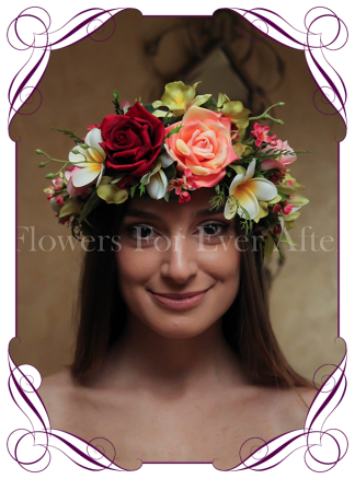 Silk Artificial tropical Flower crown halo
