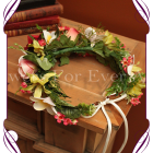 flower crown silk orchid rose frangipani flower halo