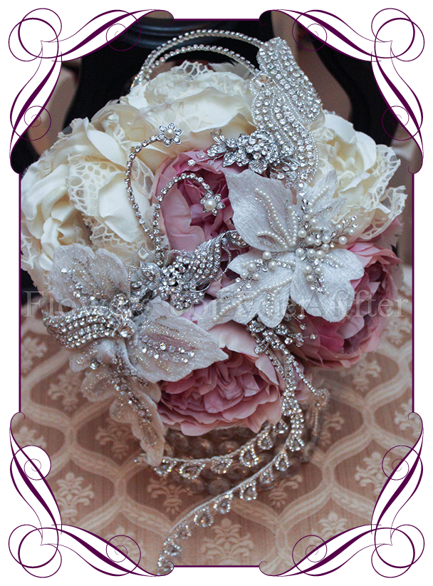 Krystal jeweled bouquet flowers for ever after artificial krystal jeweled bouquet flowers for ever after artificial wedding flower designs mightylinksfo