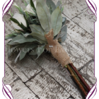 Dusty pink artificial protea posy for a flower girl.