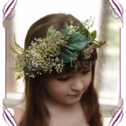 rustic / boho floral crown / halo made with artificial foliage and berries. Perfect for a bride, bridesmaid or flower girl.