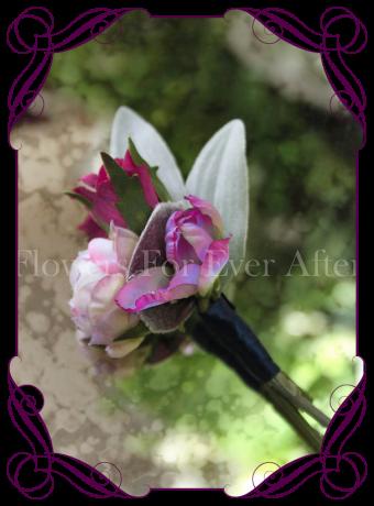 Silk artificial groomsmans / gents flower button