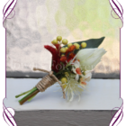 Silk artificial Australian native groom / gents wedding flower button / boutonniere. Kangaroo Paw, protea. Bridal flowers Made in Melbourne