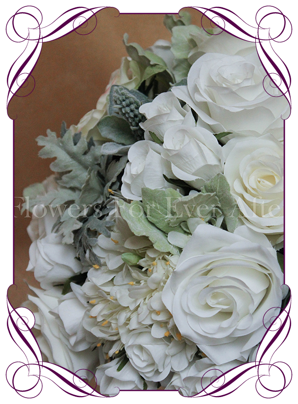 Hire white dome on silver stand flowers for ever after white ivory flower dome table centerpiece for hire in melbourne and surrounds silk flower junglespirit Gallery