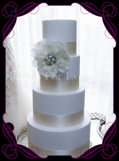 Bling set silk peony cake flower decoration