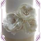 Hand made fabric flower and bling vintage cake flowers decoration