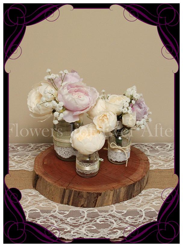 Lilac Mauve Table Decoration 3pc Deal Gorgeous Artificial Bridal