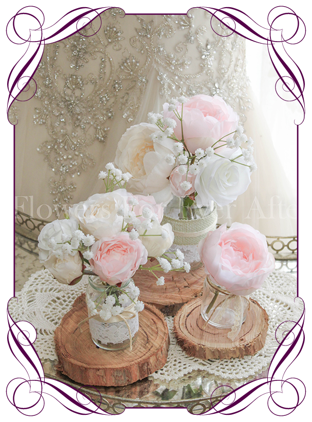 Pink peony table decoration flowers for ever after