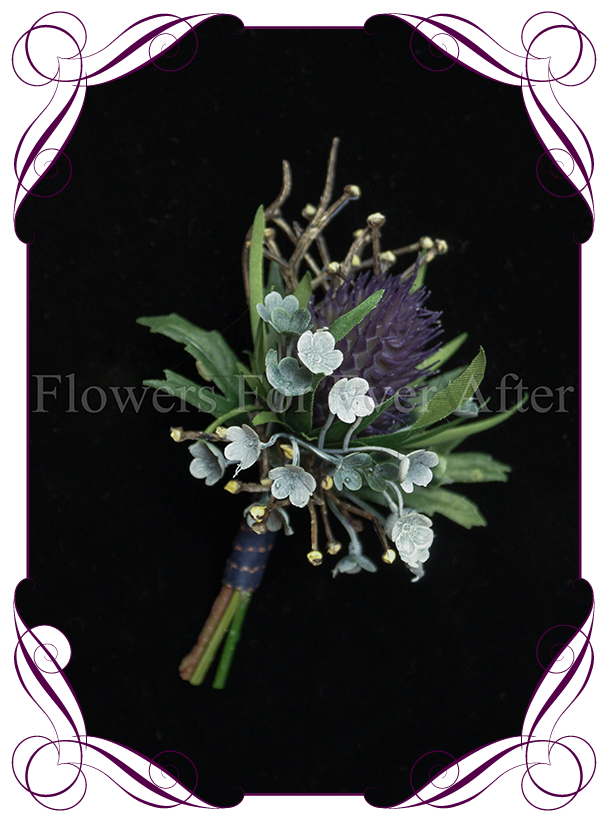 Thistle grooms button flowers for ever after artificial wedding thistle grooms button flowers for ever after artificial wedding flower designs mightylinksfo