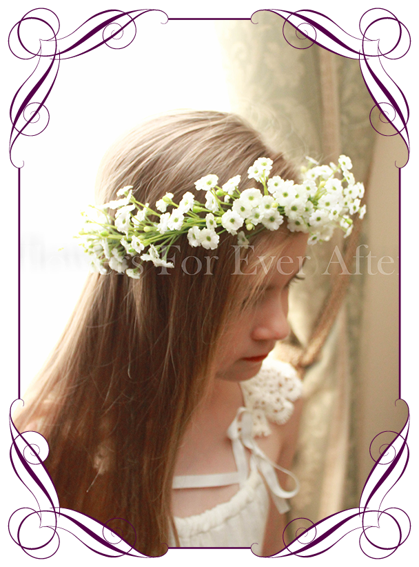 Kylie Flower Crown Halo Gorgeous Artificial Bridal