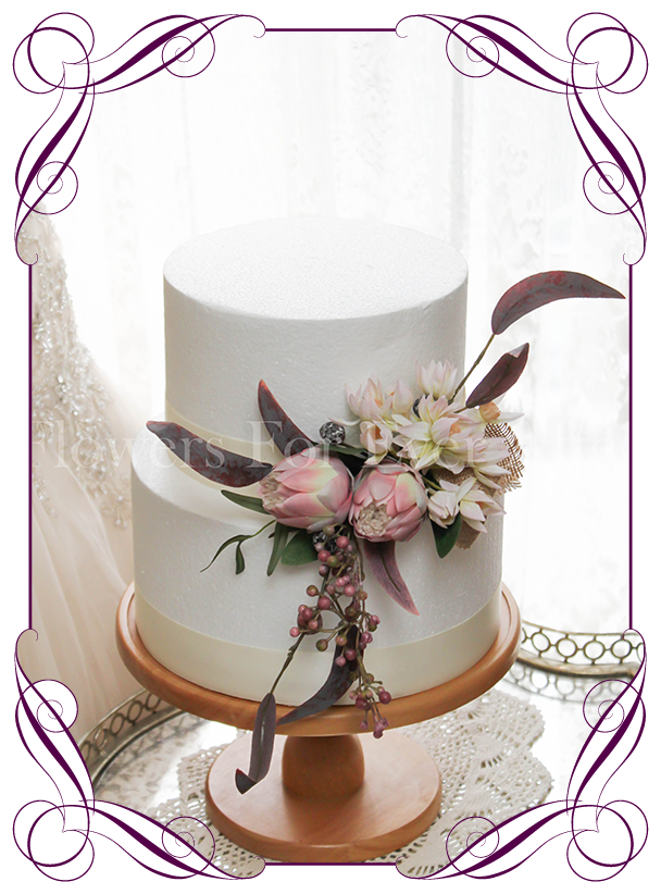 Protea Pink Native Cake Decoration Flowers For Ever After