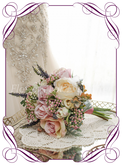 Artficial Bridal Flower packages, flower girl set in high grade silk flowers bouquets, hair combs, corsages. Made in melbourne by Australia's best silk wedding florist. World wide shipping