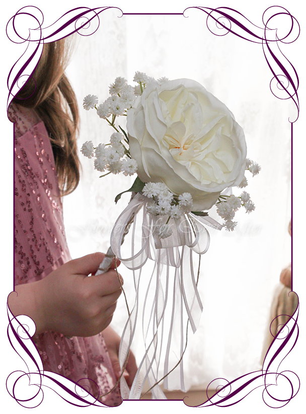 Becky Flower Girl Wand Artificial Bridal Bouquets Silk Wedding Flower Packages Flowers For Ever After